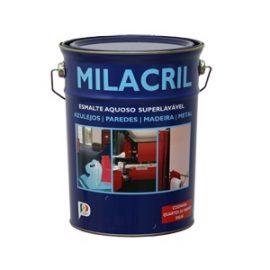 Esmalte Milacril Meio Brilho Metalizado 5 Lts.  Esmalte aquoso 100% acrílico com acabamento metalizado.